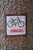Cycle sign on the bark Stock Photography