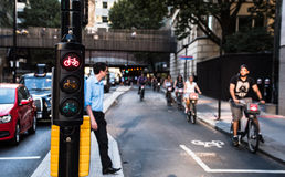 Cycle signal Stock Image