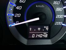Cycle speedometer and  of car Royalty Free Stock Photos