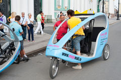 Cycle taxis by the Hermitage, St. Petersburg Stock Photo