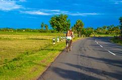 Cycle tour of mamallapuram Royalty Free Stock Image