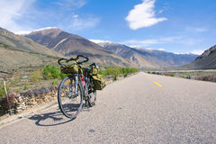 Cycle touring Stock Photography