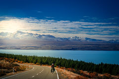 Cycle Touring In New Zealand Royalty Free Stock Images
