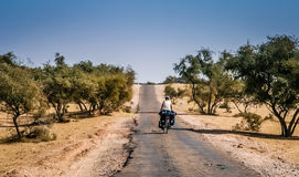 Cycle touring in India Royalty Free Stock Photos