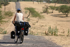 Cycle touring in India Royalty Free Stock Images