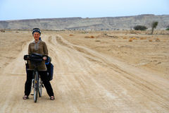 Cycle touring in Iran Royalty Free Stock Image