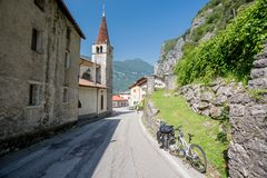 Cycle touring in Italy Stock Images
