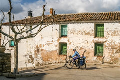 Cycle touring in Spain Stock Photo