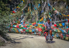 Cycle touring in Yunnan stock photo