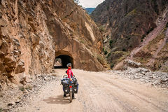 Cycle touring in Yunnan Royalty Free Stock Image
