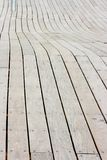 Cycle track. The closeup of wooden cycle track Stock Photography