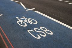 Cycle track in London. England Royalty Free Stock Image