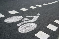 Cycle track sign Stock Photos