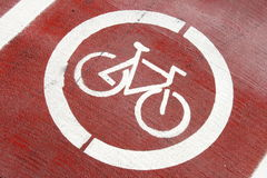 Cycle track sign Stock Photography