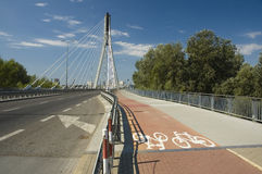 Cycle track in Warsaw Royalty Free Stock Photo
