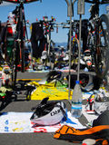Cycle transition area in event. Stock Image
