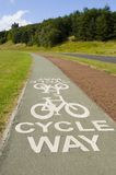 Cycle Way. A well marked cycle path in Edinburgh Stock Image