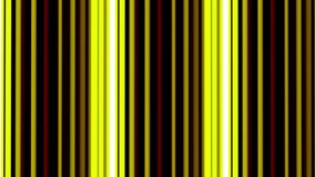 Green and yellow vertical lines moving on black. Cycled animation. Striped background. stock video footage