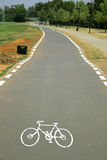 Cyclelane sign on tarmac Stock Image