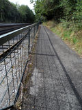 Cyclepath Running Beside the Railway Line Stock Image