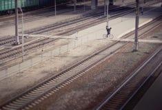 cycler Fotografie Stock