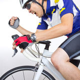 Cycler riding on bicycle Royalty Free Stock Photos