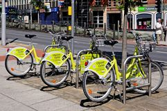 Cycles for hire, Nottingham. Stock Photography