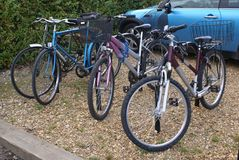 Cycles parking area. bicycles parking area Stock Photos