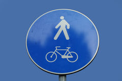 Cycles and pedestrians sign Stock Image