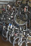Cycles For Sale In Store Royalty Free Stock Photos