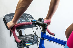Cyclette exercises Royalty Free Stock Image
