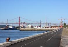 Cycleway em Lisboa Fotos de Stock Royalty Free