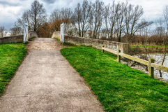 Cycleway & footpath over bridge Royalty Free Stock Image