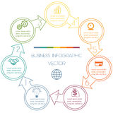 Cycli Infographic zeven posities Royalty-vrije Stock Afbeelding