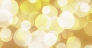 Abstract background with animated glowing gold and red bokeh loop, alpha vector illustration