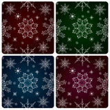 Cyclic background with a snowflakes Stock Photo