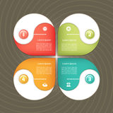 Cyclic diagram with four steps and icons. Royalty Free Stock Photo