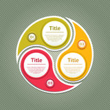 Cyclic diagram with three steps. Stock Photo