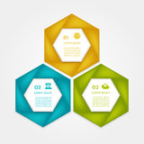Cyclic diagram with three steps and icons. Eps 10 Royalty Free Stock Photos