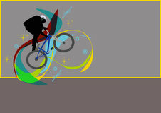 Cycling. Abstract color cycling sport background with space Royalty Free Stock Photos