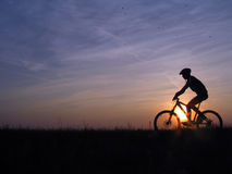 Cycling. Mountain biker royalty free stock photos