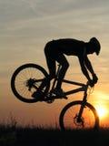 Cycling. Mountain biker stock photography