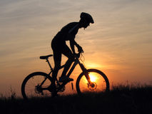 Cycling. Mountain biker stock images