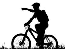 Cycling. Mountain biker Royalty Free Stock Images
