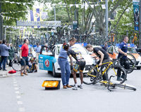 Cycling accident Royalty Free Stock Photo