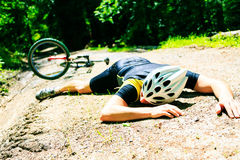 Cycling Accident Stock Photography