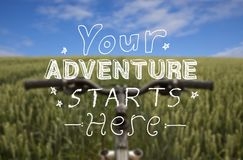 Cycling Adventure Background Royalty Free Stock Images