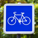 Cycling Allowed Sign Stock Photos