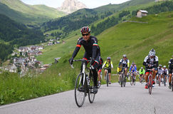 Cycling in the Alpi Royalty Free Stock Image