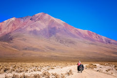 Cycling through Altiplano Stock Image